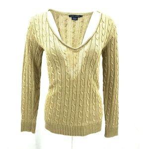 Ralph Lauren Cable Knit Sweater Size M Linen